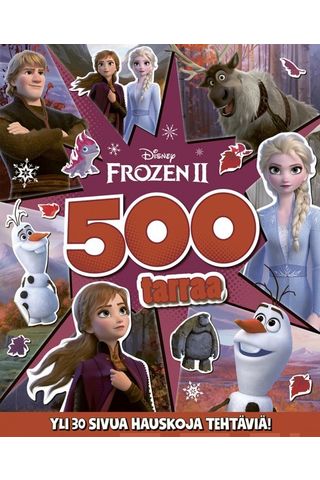 Disney Frozen 2 puuhakirja 500 tarraa