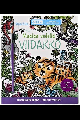 Oppi&ilo Maalaa Vedellä Viidakko puuhakirja 6-99v