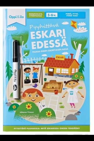 Oppi&ilo Pyyhittävä Eskari edessä puuhakirja 5-6v