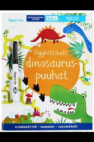 Oppi&ilo Pyyhittävät dinosauruspuuhat puuhakirja 4-6v