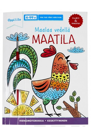 Oppi&ilo Maalaa vedellä MAATILA -puuhakirja 4-99 v