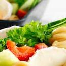 Hedelmäinen vuohenjuusto-pastasalaatti