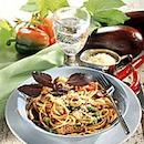 Spagettia ja naudanlihaa