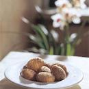 Pähkinäiset Hasselbackan perunat