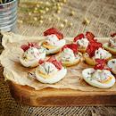 Täytetyt perunat ja munat