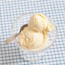 Vanhanajan vaniljakermajäätelö jäätelökoneella
