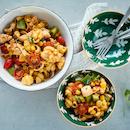 Meksikolainen kana-pastasalaatti