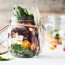 Feta-munakoisokerrossalaatti
