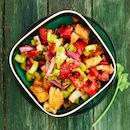 Selleri-panzanellasalaatti