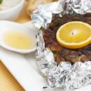 Appelsiini-curry-broileria ja sitrusdippi
