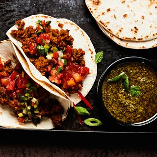 Amarillon Vegan soft taco