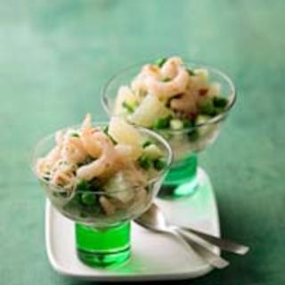 Greippi-katkarapusalaatti