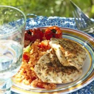 Provencen broileripihvit ja tomaatticouscous
